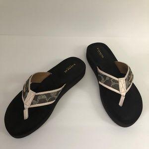 Coach Judy flip flops. Size 8